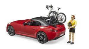 Bruder Roadster med cykel og cyklist