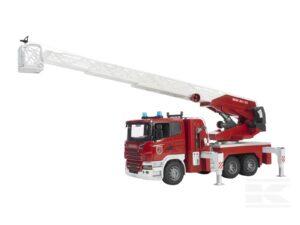 Bruder Scania brandbil med stige og lys/lyd