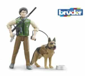 Bruder Skovfoged med hund og tilbehør