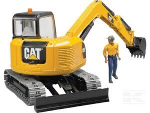 Bruder CAT minigraver med mand