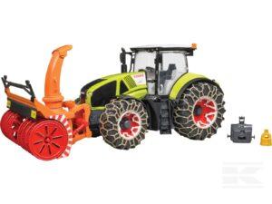 Bruder Claas traktor med sneslynge
