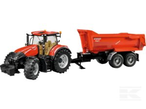 Bruder Case traktor med trailer