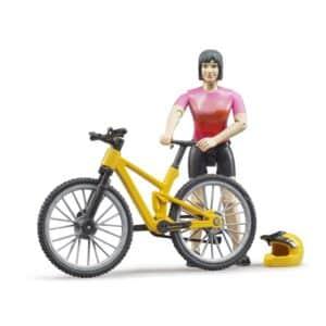 Bruder Mountainbike med rytter