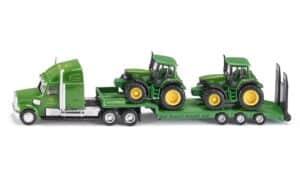 Siku Blokvogn med 2 John Deere traktorer